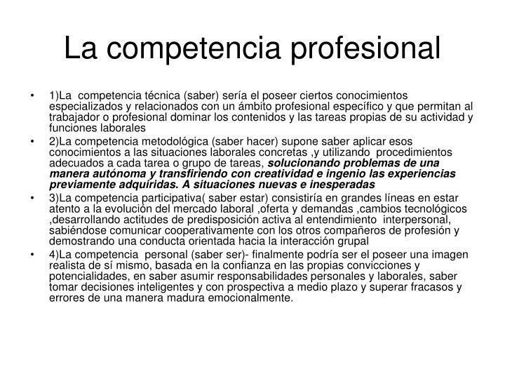 La competencia profesional