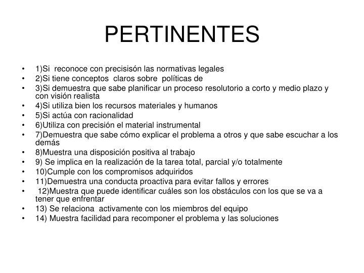 PERTINENTES