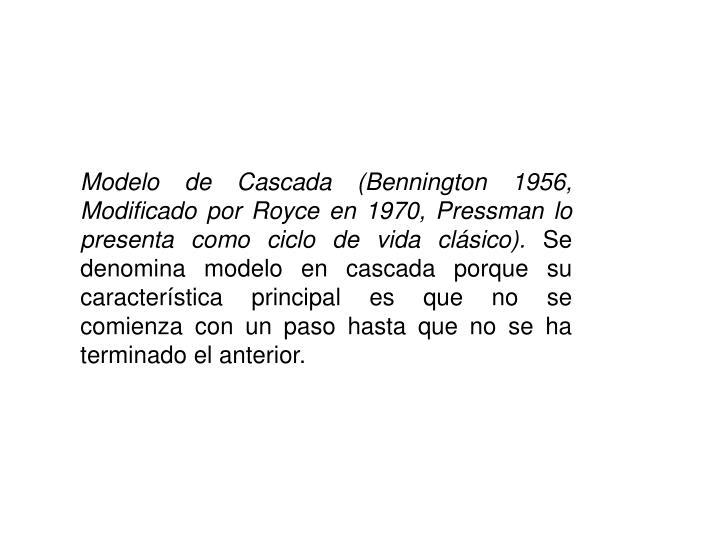 Modelo de Cascada (