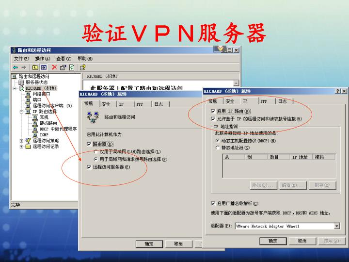 验证VPN服务器