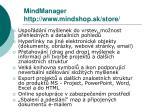 mindmanager http www mindshop sk store