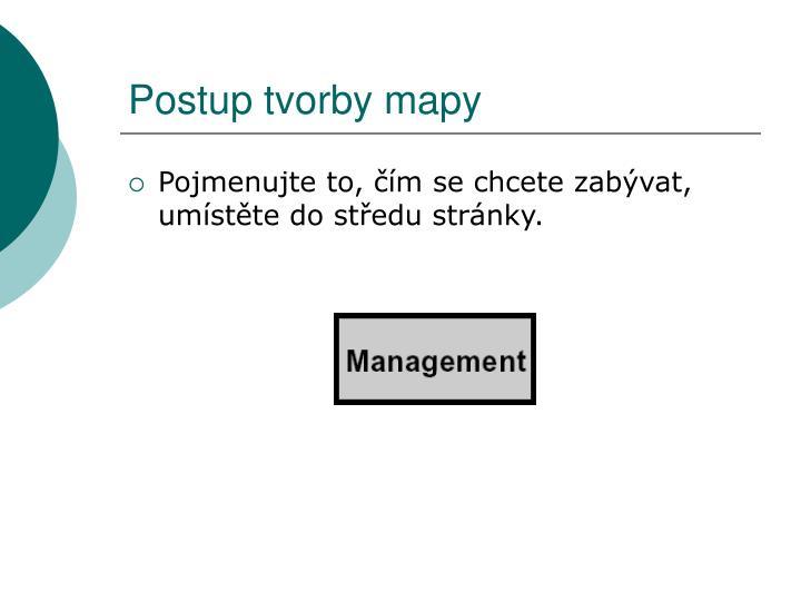 Postup tvorby mapy