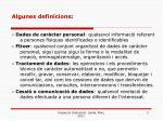 algunes definicions