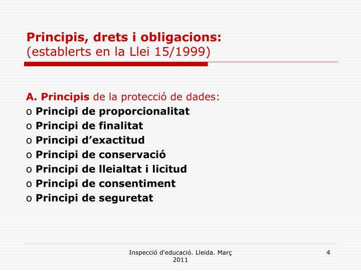 Principis, drets i obligacions: