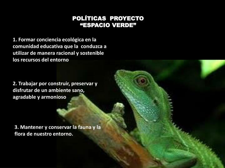 POLÍTICAS  PROYECTO