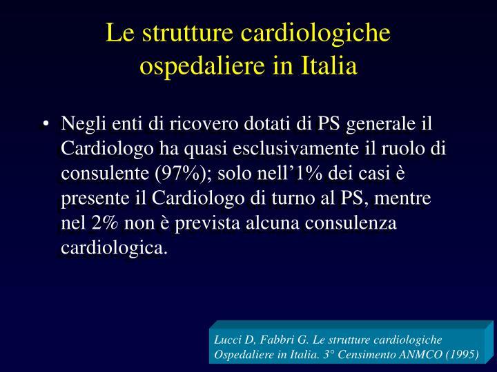 Le strutture cardiologiche ospedaliere in Italia