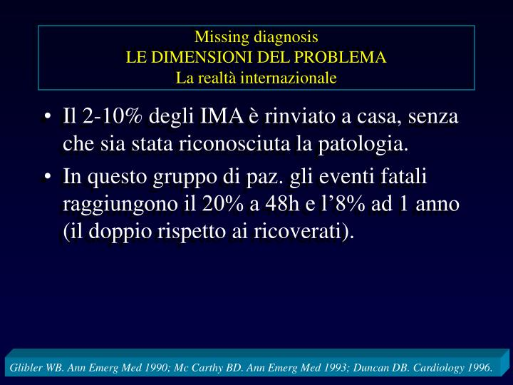 Missing diagnosis