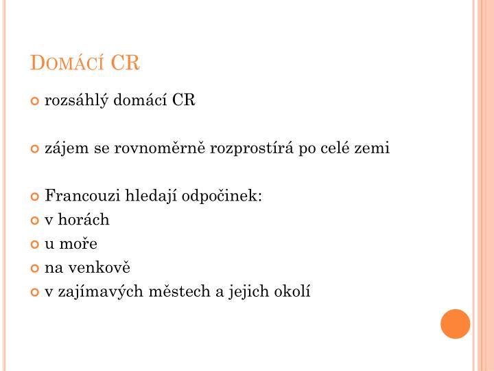 Domácí CR