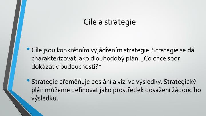 Cíle a strategie