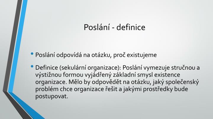 Poslání - definice