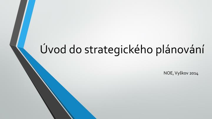 Vod do strategick ho pl nov n