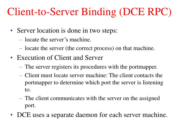 Client-to-Server Binding (DCE RPC)