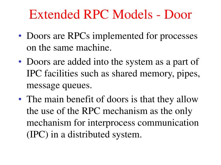 Extended RPC Models - Door