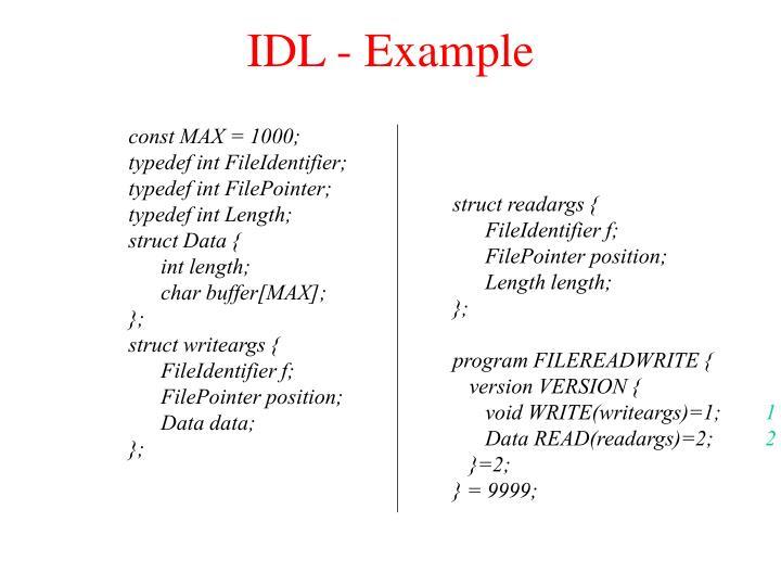 IDL - Example