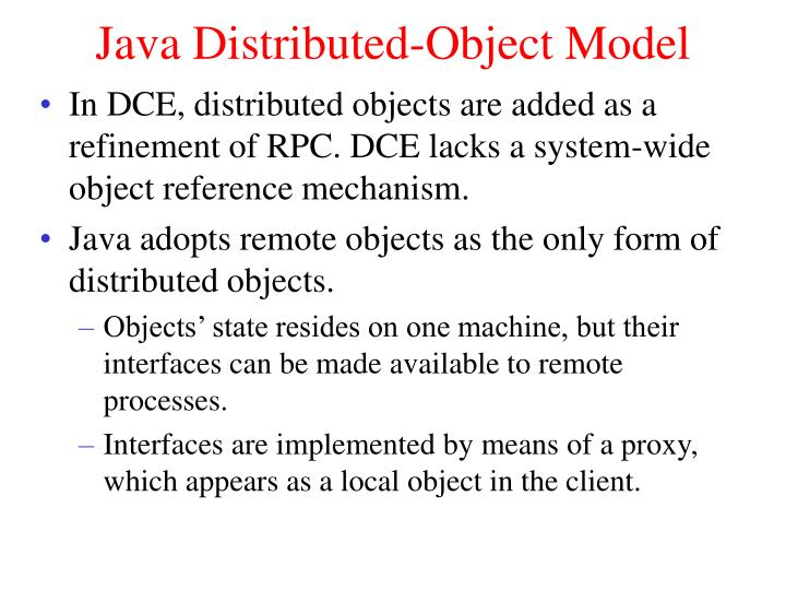 Java Distributed-Object Model