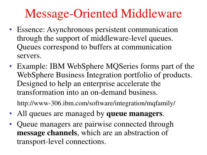 Message-Oriented Middleware