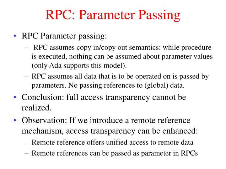 RPC: Parameter Passing