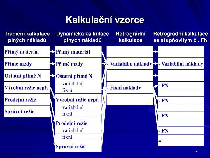 Kalkulační vzorce