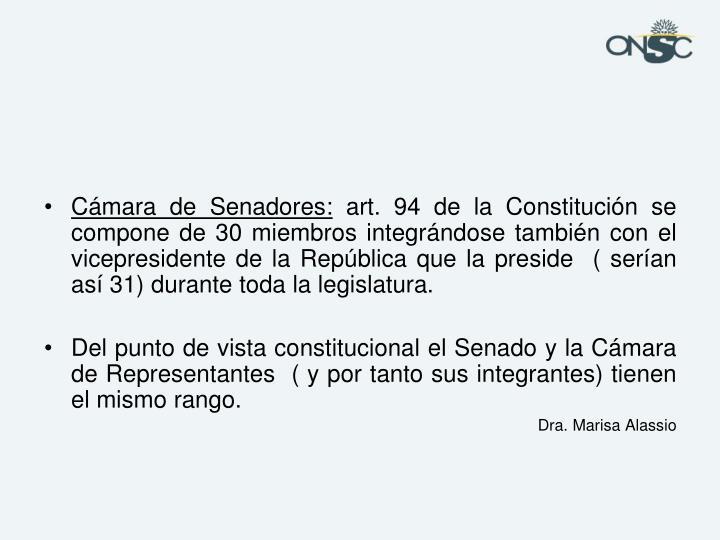 Cámara de Senadores: