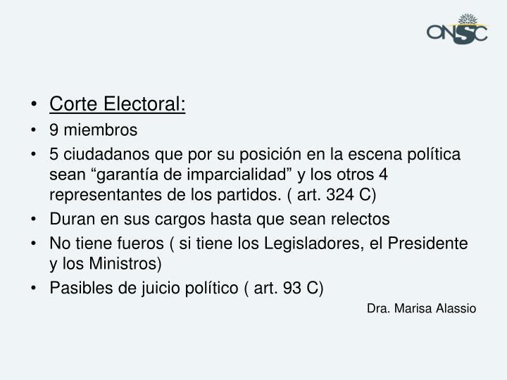 Corte Electoral: