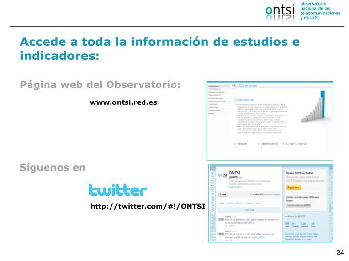 Accede a toda la información de estudios e indicadores:
