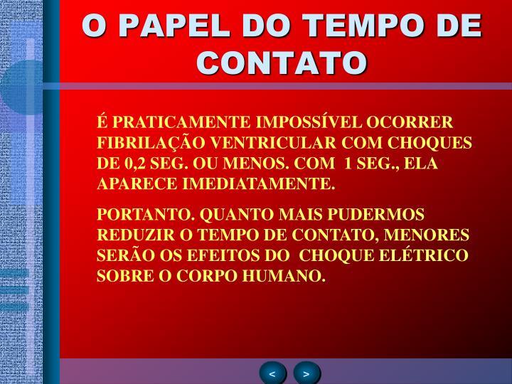 O PAPEL DO TEMPO DE