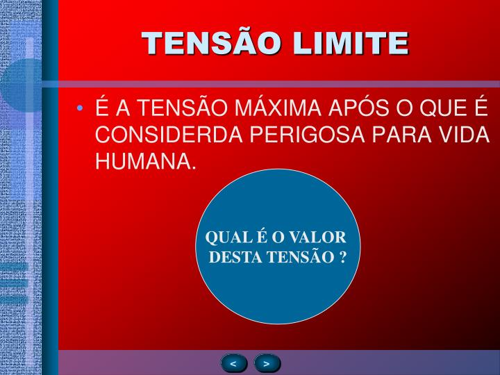TENSÃO LIMITE