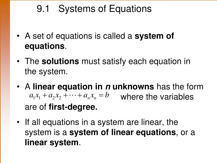9 1 systems of equations