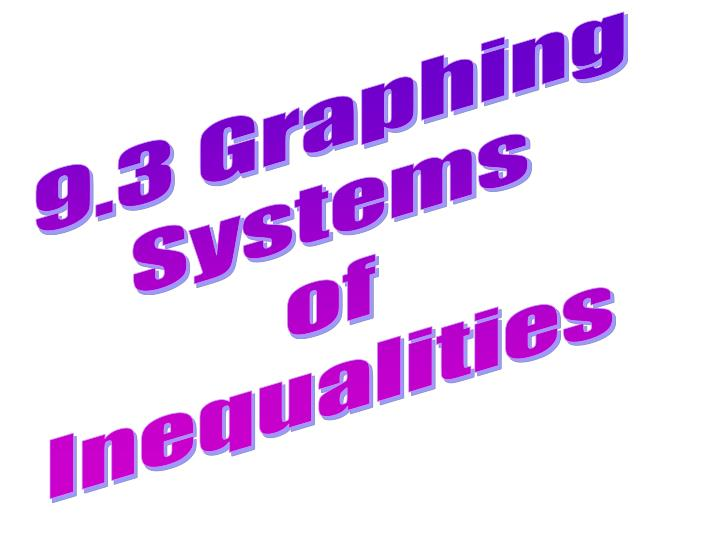 9.3 Graphing