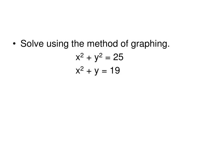 Solve using the method of graphing.