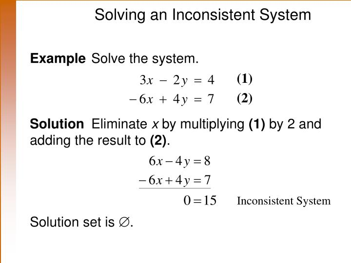 Solving an Inconsistent System