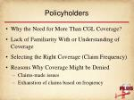 policyholders