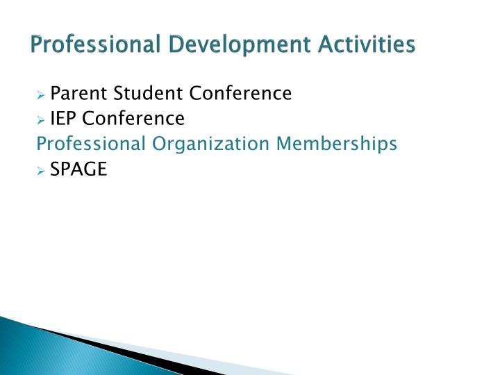 Professional Development Activities