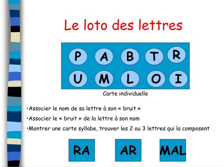 Le loto des lettres