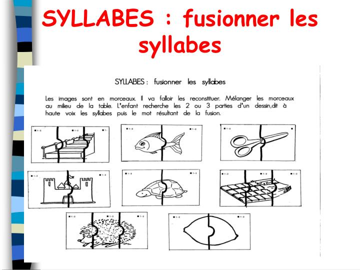SYLLABES : fusionner les syllabes