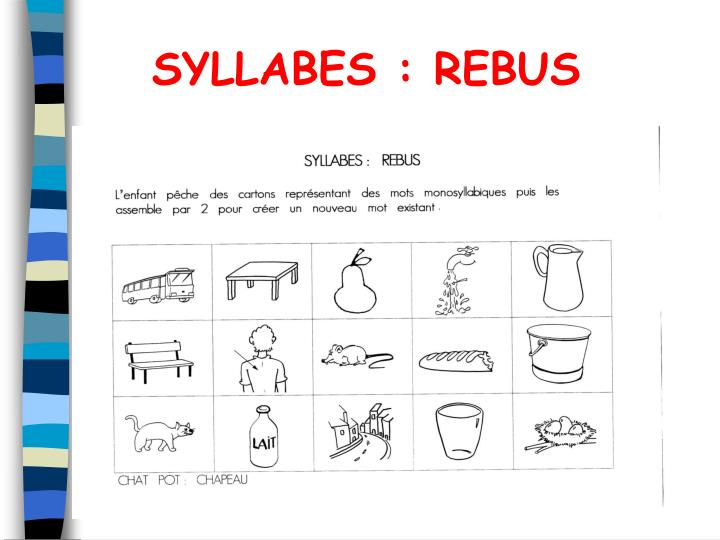 SYLLABES : REBUS