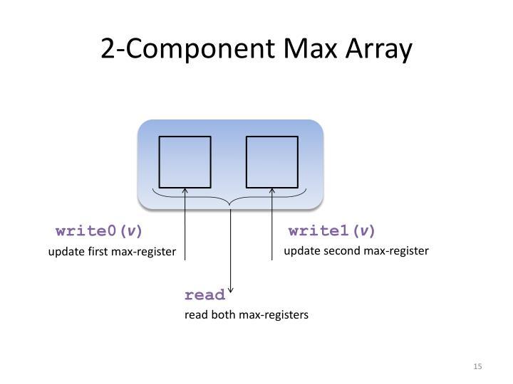 2-Component Max Array