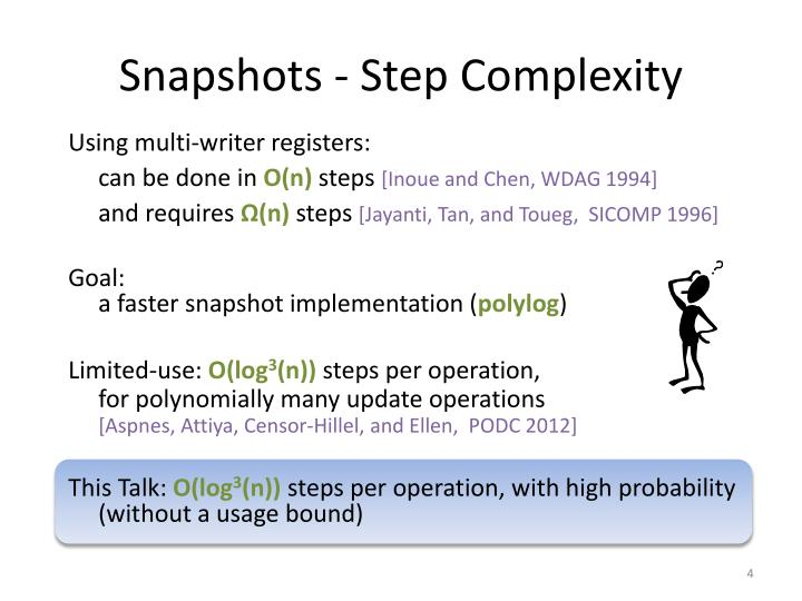 Snapshots - Step Complexity