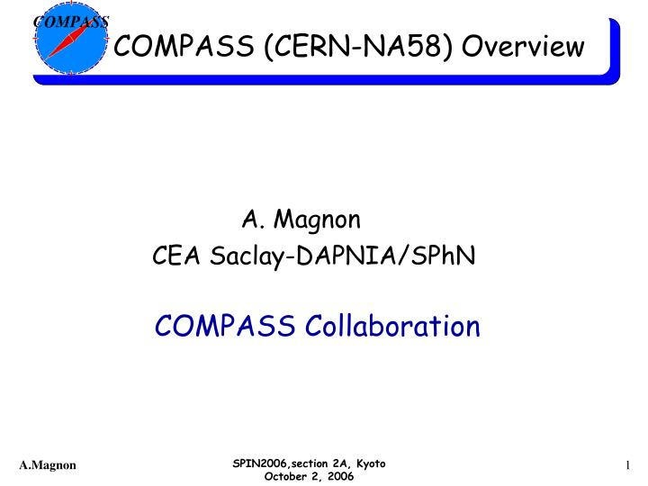 Compass cern na58 overview
