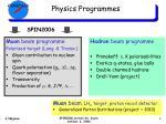 physics programmes