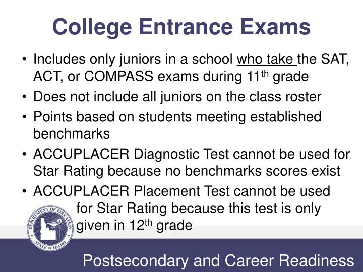 College Entrance Exams