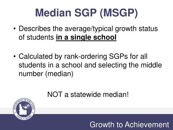 Median SGP (MSGP)