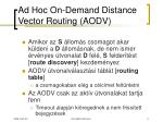 ad hoc on demand distance vector routing aodv