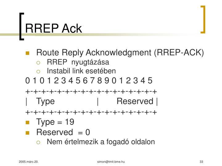 RREP Ack