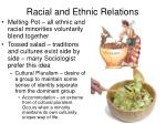 racial and ethnic relations1
