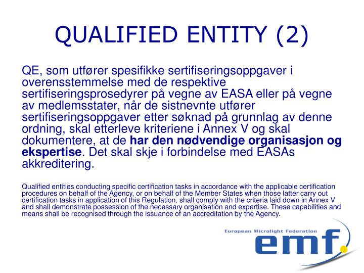 QUALIFIED ENTITY (2)