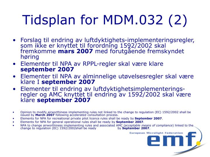 Tidsplan for MDM.032 (2)