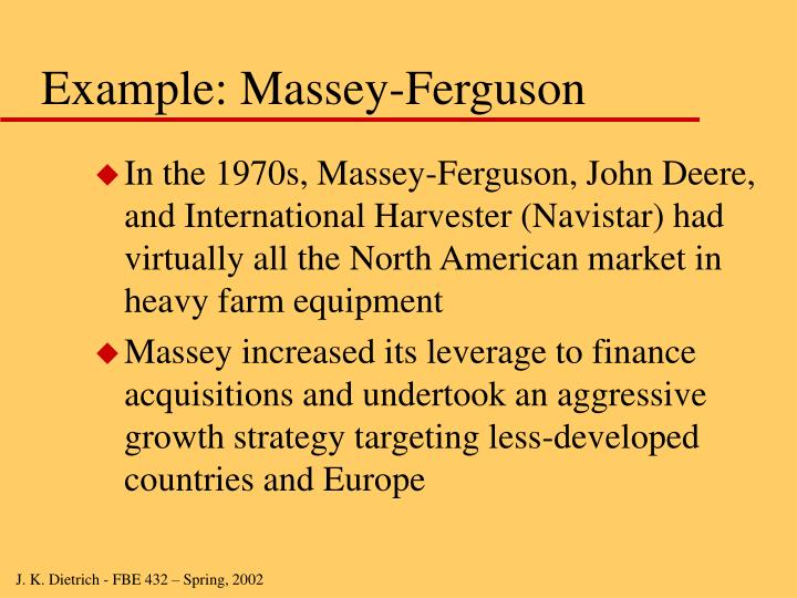Example: Massey-Ferguson
