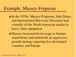 example massey ferguson