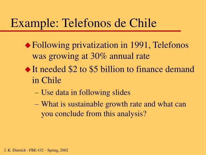 Example: Telefonos de Chile